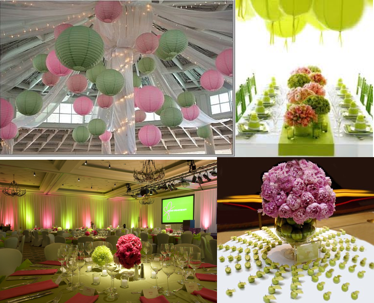 Pink has a thing for green smart ideas for your events hello decor junglespirit Image collections
