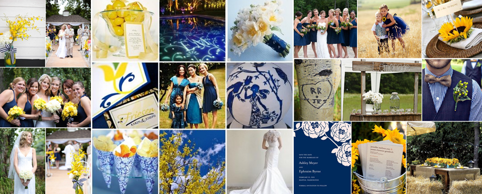 Dark Blue And Yellow Wedding: Smart Ideas For Your Events